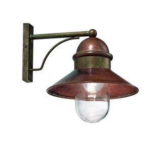 Picture of IL BORGO Exterior Brass Copper Wall Light (244.05.ORB_T) IL Fanale