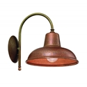 Picture of CONTRADA Exterior Brass Copper Wall Light (243.06.OR) IL Fanale