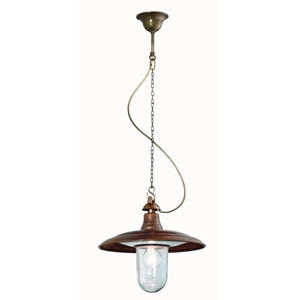 Picture of BARCHESSA Exterior Brass Copper Pendant (220.08.ORB_T) IL Fanale