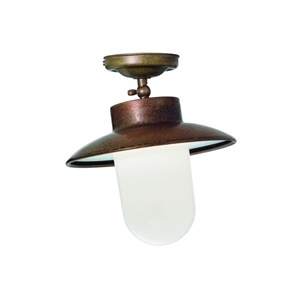 Picture of CALMAGGIORE Exterior Brass Copper Ceiling Light (232.06.ORB_T) IL Fanale