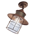 Picture of IL GRANAIO Exterior Brass Copper Ceiling Light (246.02.ORB_T) IL Fanale