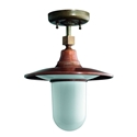 Picture of IL PONTE Exterior Brass Copper Ceiling Light (250.22.ORB_T) IL Fanale