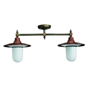 Picture of IL PONTE Exterior Brass Copper Ceiling Light (250.28.ORB_T) IL Fanale