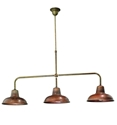 Picture of OSTERIA 3 Light Brass Pendant (211.11.OR) IL Fanale