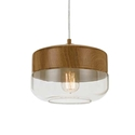 Picture of Bruno 1 Light Pendant (Bruno PE25-CL/OK) Telbix
