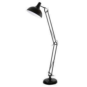 Picture of Borgillio Black Floor Lamp (94698) Eglo Lighting