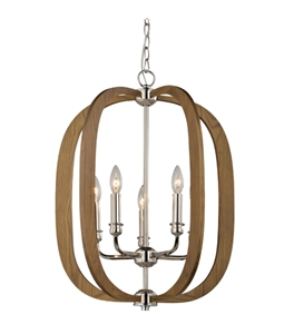 Picture of Bolton 4 Light Wood Pendant (Bolton1 Bolton2) CLA Lighting