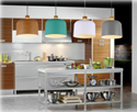 Picture of Porto Oak Wood Look & Metal Shade Pendants (0746, 0747, 0748, 0749) V & M Imports
