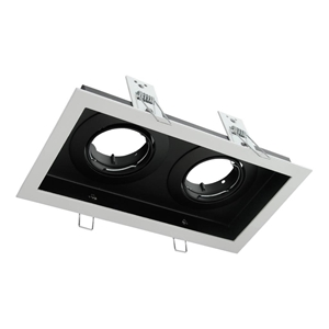 Picture of DSL-101/2B Rectangular Slotter 2 Light Downlight Frame (70003 70004) Domus Lighting