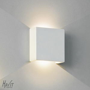 Picture of Candy Square Plaster LED Wall Light (HV8061) Havit Lighting
