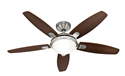 "Picture of Contempo 52"" 1320mm Ceiling Fan With Light Hunter Fan"