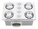 Picture of Magnus Quattro Bathroom Heater with Exhaust & LED Light (BH144ESW) Mercator Lighting