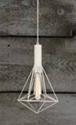 Picture of Blackband & Whiteband 6 Iron Cage Diamond Pendant CLA Lighting