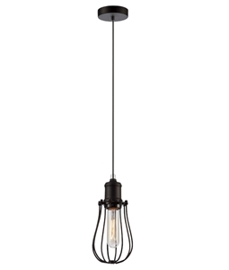 Picture of Blackband4 Iron Cage Pear Pendant CLA Lighting