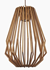 Picture of Ragusa 1 Light Wood Veneer Long Pendant Fiorentino Imports