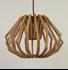 Picture of Ragusa Small 1 Light Wood Veneer Pendant Fiorentino Imports