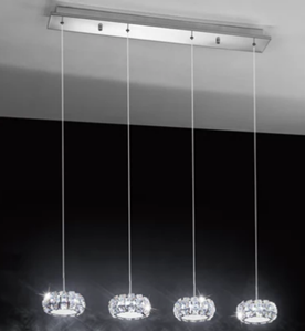 Picture of  Corliano LED 4 Light Rail Crystal Pendant (39007) Eglo Lighting