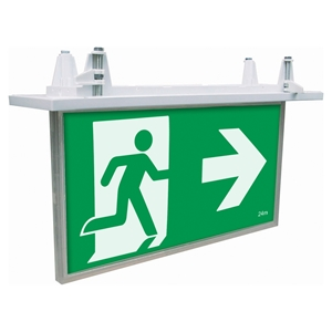 Picture of BLADE Recessed LED Exit Sign with Emergency Downlight (19878/05) Brilliant Lighting