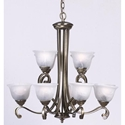Picture of Milton 12 Light Pendant (MC56212AB) Mercator Lighting