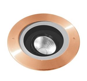 Picture of Mandalay Copper 240V LED In-ground Adjustable Uplighter (S132C) Seaside Lighting