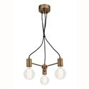 Picture of Colorado 3 Light Aged Brass Pendant (MG7233BRS) Mercator Lighting