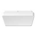 Picture of SUNSET SQUARE 15W 250MM SLIMLINE LED OYSTER IN TRIO TRICOLOUR (20886) Domus Lighting
