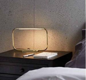 Picture of Frame-Rectangle Table Lamp with LED Strip Light