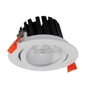 Picture of AQUA-TILT White 13W Round IP65 Tiltable 13W LED Dimmable Downlight (21322 21326 21330) Domus Lighting