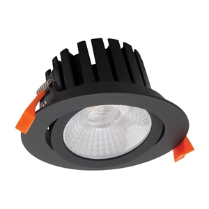 Picture of AQUA-TILT Black 13W Round IP65 Tiltable 13W LED Dimmable Downlight (21306 21310 21314) Domus Lighting