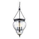 Picture of DIANA Lantern Pendant Black with Clear Glass (31323) Domus Lighting
