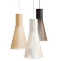 Picture of Lucca 1 Light Wood Pendant (Lucca) Fiorentino Lighting
