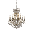 Picture of 12 Lights Crystal Chandelier in Aged Brass (CH-SS1118 ) Robert Kitto