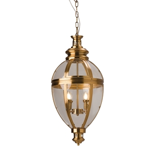 Picture of Old Brass 4 Lights Egg Shape Lantern (PD0118P-4) Robert Kitto
