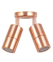 Picture of Exterior Solid Copper 240V Double Adjustable Wall Pillar Light (PG2AC) CLA Lighting