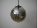Picture of Smoke (Mirror) Glass 1 Light Pendant With Black Suspension Fiorentino