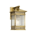 Picture of Avera 15 Small Solid Brass 1 Light Exterior Wall Light (Avera Ex15-BRS) Telbix