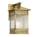 Picture of Avera 175 Large Solid Brass 1 Light Exterior Wall Light (Avera Ex175-BRS) Telbix