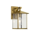 Picture of Coby 15 Small Solid Brass 1 Light Exterior Wall Light (Coby Ex15-BRS) Telbix