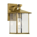 Picture of Coby 18 Large Solid Brass 1 Light Exterior Wall Light (Coby Ex18-BRS) Telbix