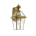 Picture of Rye 20 Solid Brass 1 Light Exterior Wall Light (Rye Ex20-BRS) Telbix