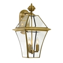 Picture of Rye 27 Solid Brass 3 Light Exterior Wall Light (Rye Ex27-BRS) Telbix