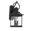 Picture of Fergus Black 2 Light Exterior Wall Light (Fergus Ex-BK) Telbix