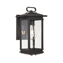 Picture of Nevin Black 1 Light Exterior Wall Light (Nevin EX-BK) Telbix