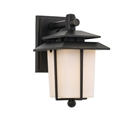 Picture of Silvan Black 1 Light Exterior Wall Light (Silvan EX-BK/OP) Telbix