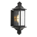 Picture of Leeds Black 2 Light Exterior Wall Light (Leeds EX-BK) Telbix