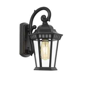 Picture of Hadley Black 1 Light Exterior Wall Light (Hadley EX-BK) Telbix
