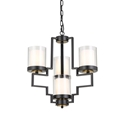 Picture of Alvarez Small 4 Light Pendant (Alvarez PE31-BK) Telbix