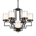 Picture of Alvarez Large 7 Light Pendant (Alvarez PE61-BK) Telbix