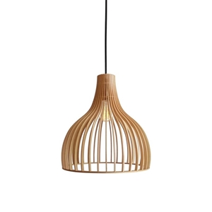 Picture of Bailey 1 Light Wood Pendant (CIDP500162) Crompton Lighting