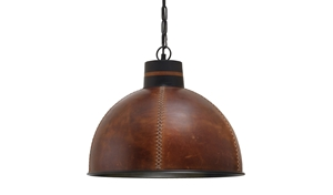 Picture of Handcrafted Hidesign Large Leather Pendant (SAA001B) Ella & Oak